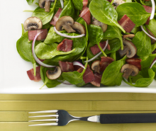 Spinach & Turkey Bacon Salad