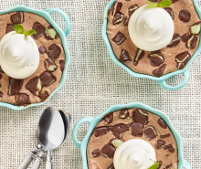 Mini Mint Chocolate Cheesecakes