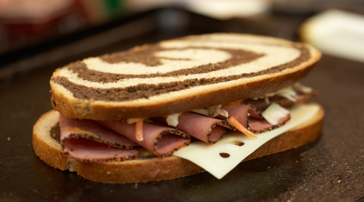 Grilled Turkey Pastrami Rachel