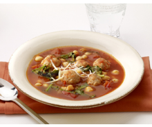 Turkey Meatball and Chickpea Soup