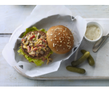 Bacon, Mushroom & Cheese Turkey Burgers