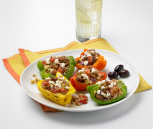 Turkey Peppers with Couscous