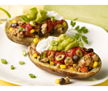 Mexican Turkey Potato Skins
