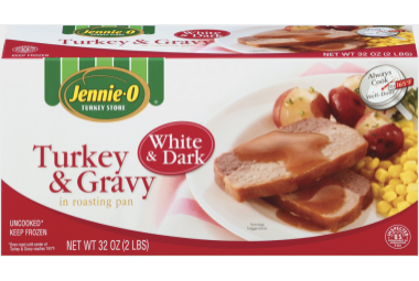 White & Dark Turkey & Gravy