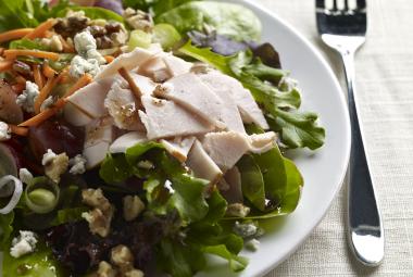 Turkey Salad on Spring Greens