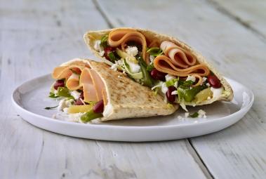Easy Greek Turkey Pitas