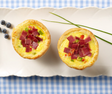 Turkey Bacon Breakfast Soufflés