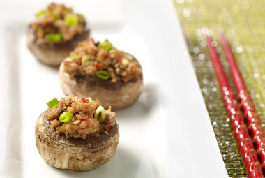 Chinatown Turkey Stuffed Mushrooms