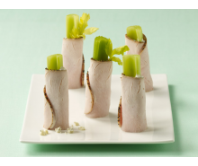 Peppery Blue Cheese Turkey Roll-Ups