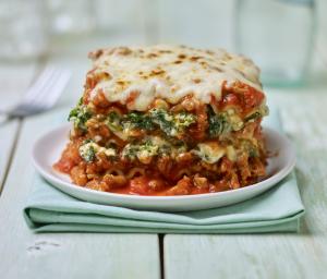 Turkey Spinach Lasagna