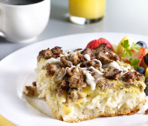 Creamy Turkey Sausage Breakfast Bake