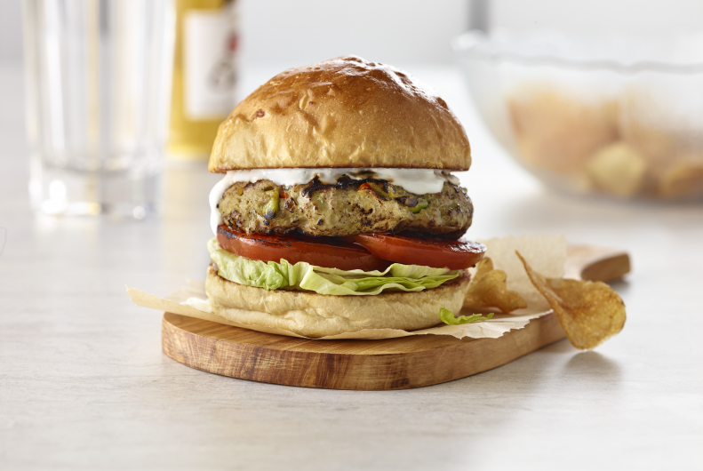 Guacamole Turkey Burger with Sour Cream Aioli