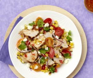 Grilled Corn & Turkey Salad