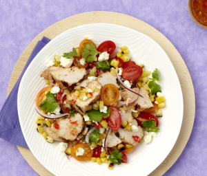 Grilled Corn & Turkey Salad
