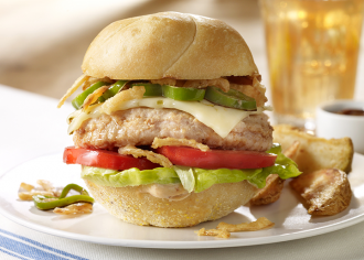 Fiery Chipotle Turkey Burger