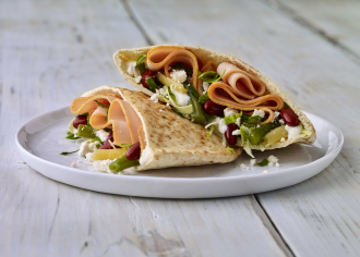 Easy Greek Turkey Pitas