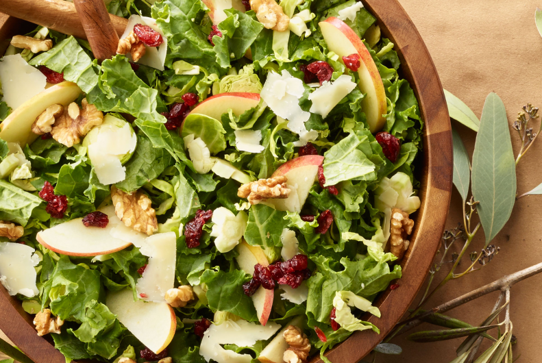 Turkey, Brussels Sprouts & Kale Salad