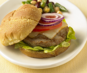 Grilled Turkey Burger Supreme
