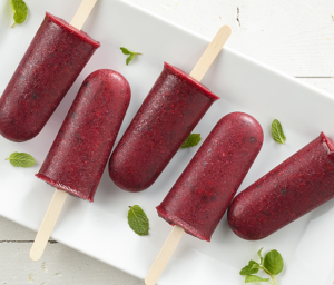 Blackberry & Mint Popsicles