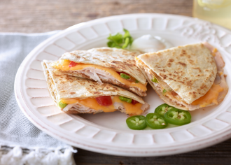 Bean & Turkey Quesadillas