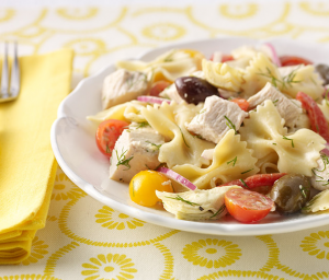 Pasta Turkey Salad with Dill Dressing