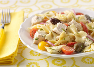 Pasta Turkey Salad with Dill Dressing