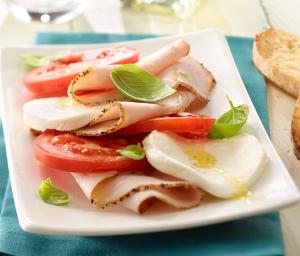 Caprese Salad with Italian Style Turkey