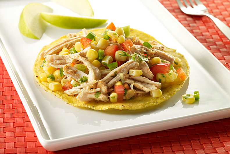 Turkey & Corn Salsa Tostada
