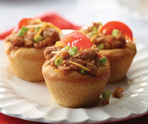 Festive Turkey Taco Cups