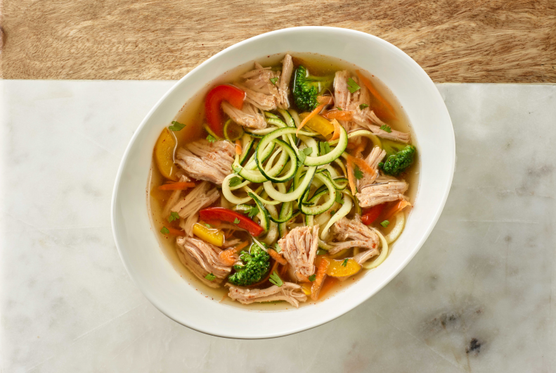 Smoky Turkey & Zucchini Ramen Noodles