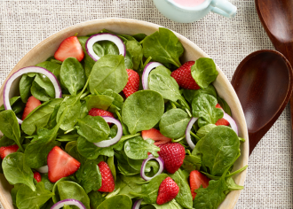 Strawberry Spinach Salad with Buttermilk Dressing