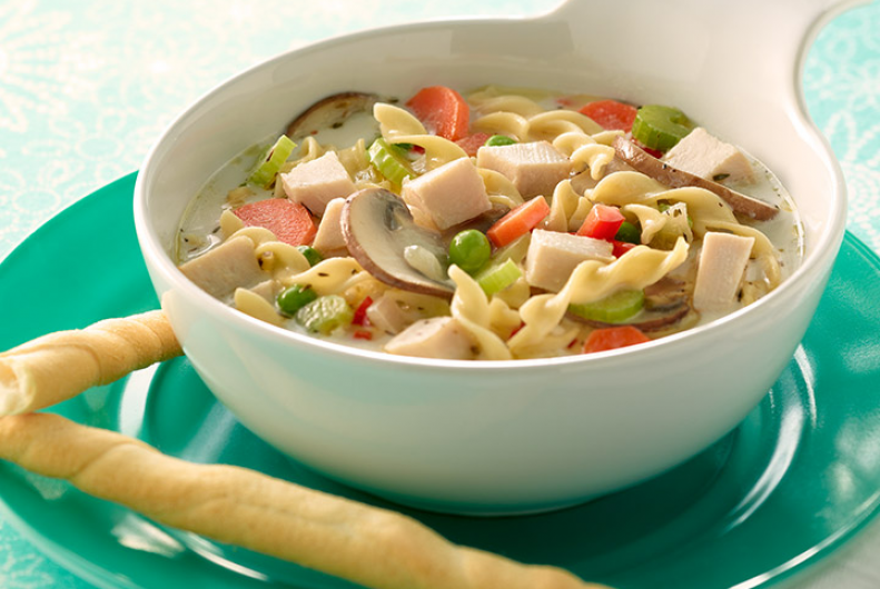 Creamy Turkey & Veggie Soup