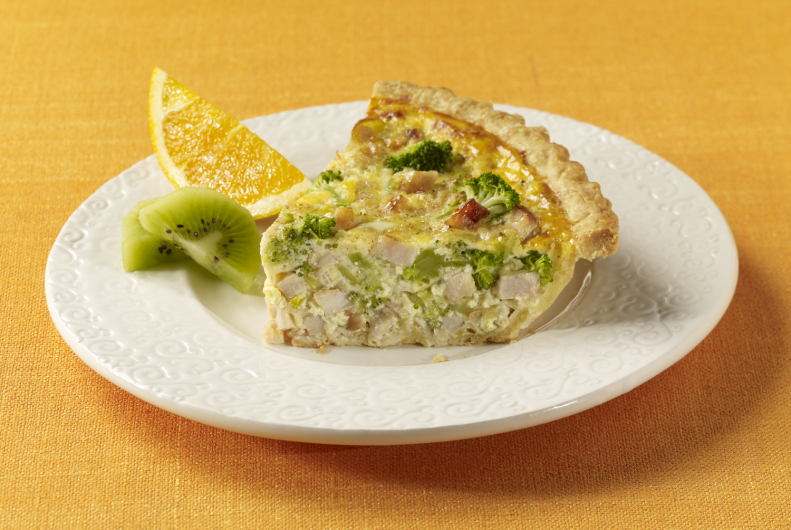 Turkey Spinach Quiche