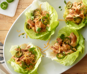 Slow Cooker Enchilada Lettuce Wraps