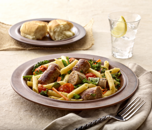 Vegetable Habañero Apricot Sausage Penne