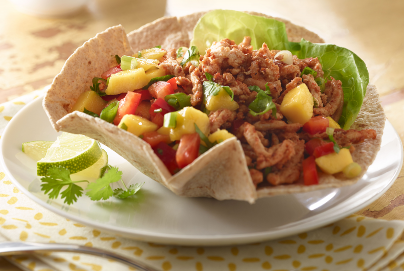 Mango Turkey Taco Salad