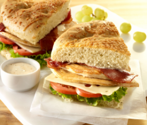 Turkey Focaccia Sandwiches