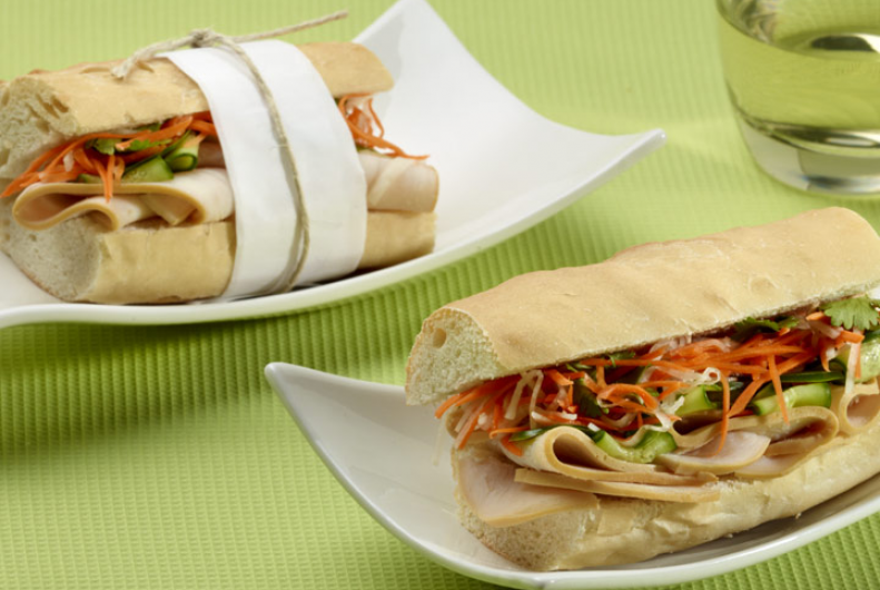 Vietnamese-Style Turkey Sandwich (Banh-Mi)
