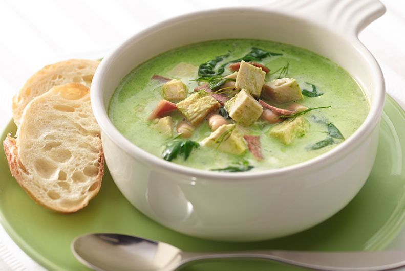 Spinach Turkey Bean Soup