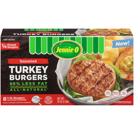 1/4 lb. Seasoned Turkey Burgers