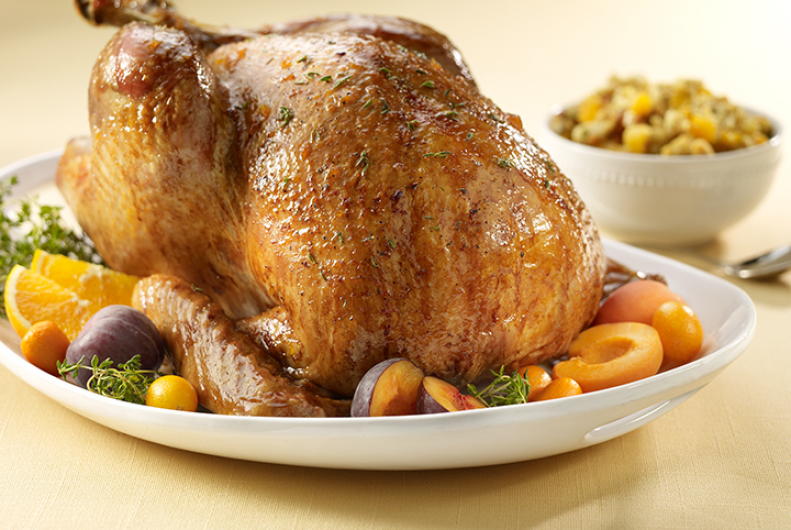 Apricot Turkey with Hazelnut Stuffing