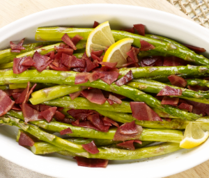 Roasted Asparagus with Turkey Bacon
