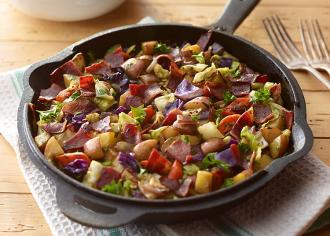 Turkey Bacon Skillet Breakfast