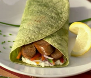 Turkey Sausage n' Veggie Wrap
