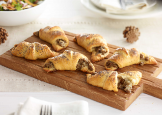 Turkey Sausage and Cheese Crescent Rolls