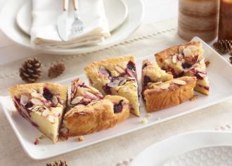 Raspberry Almond Buttermilk Coffee Cake