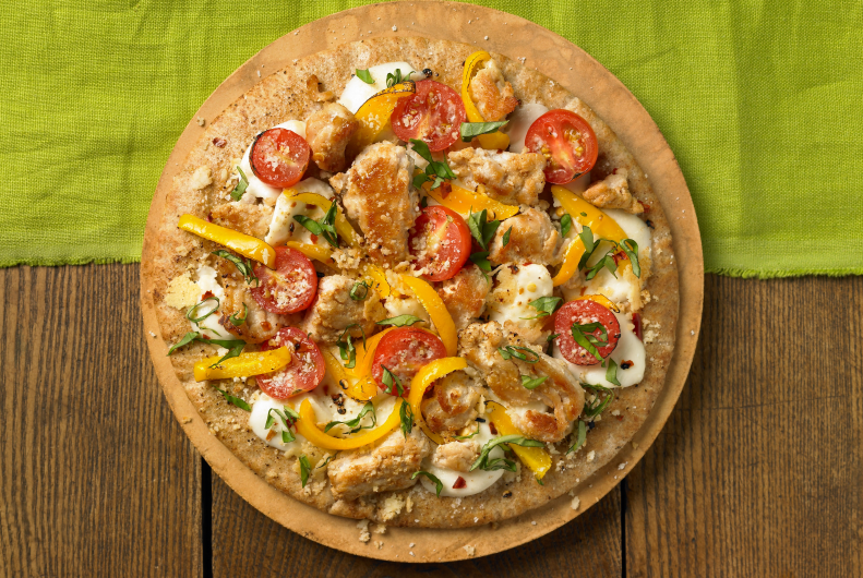 Turkey Pita Pizza