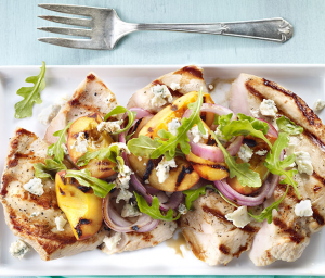 Turkey Tenderloin with Peaches