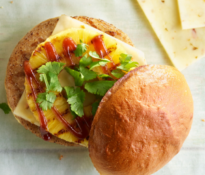 Barbeque Pineapple Turkey Burger