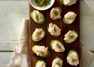 Cucumber Turkey Bites